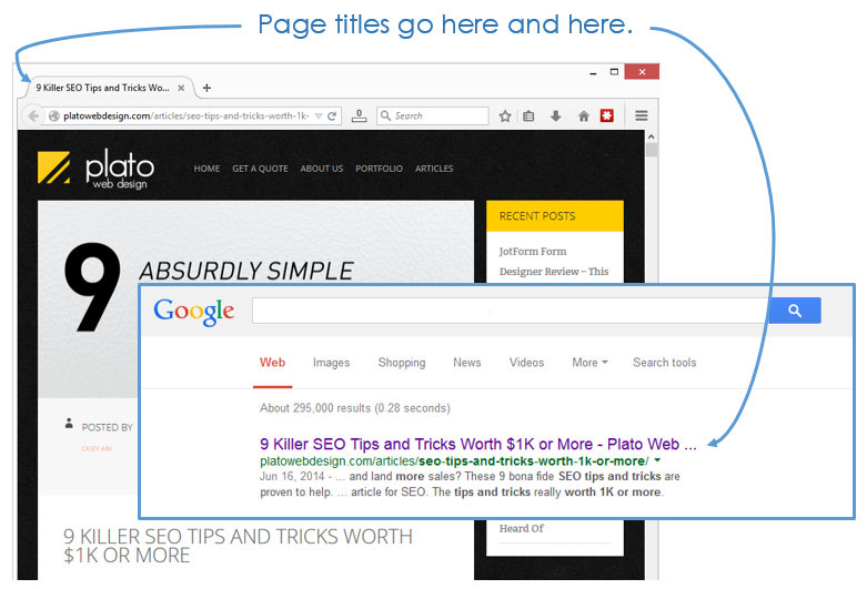 Page Titles - Search Engine Optimization